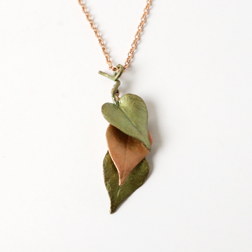 Sweet Potato Vine Necklace - Goldmakers Fine Jewelry
