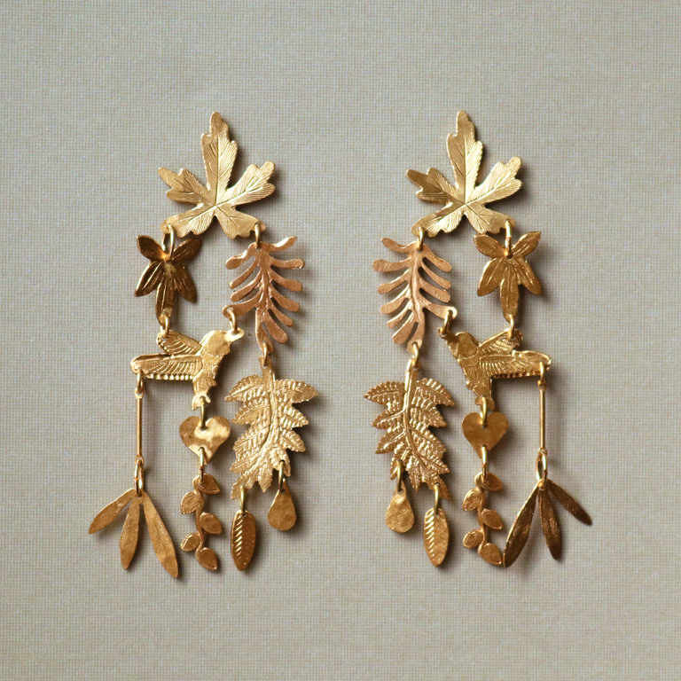 Sweet Tobacco Earrings - Goldmakers Fine Jewelry