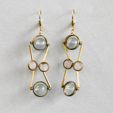 Symmetry Drop Earrings - Goldmakers Fine Jewelry