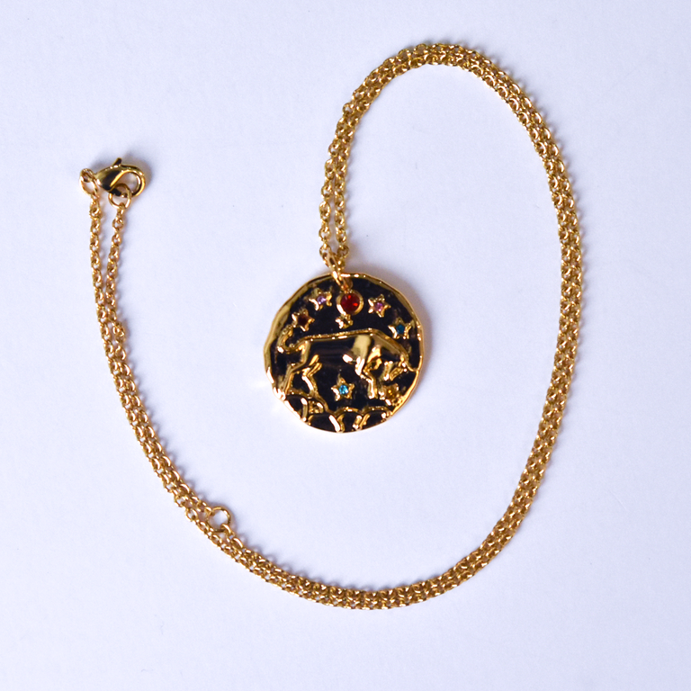 Taurus Coin Necklace - Goldmakers Fine Jewelry