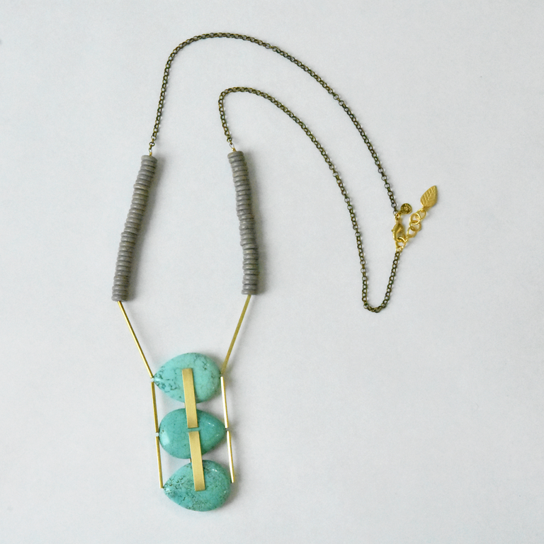 Teardrop Magnesite Necklace - Goldmakers Fine Jewelry