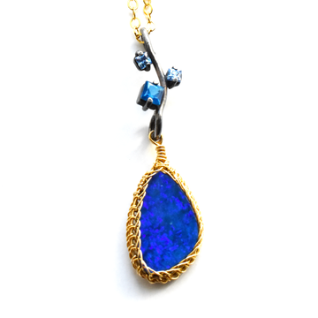 Topaz and Opal Necklace - Goldmakers Fine Jewelry