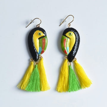 Toucan French Wire Earrings - Goldmakers Fine Jewelry