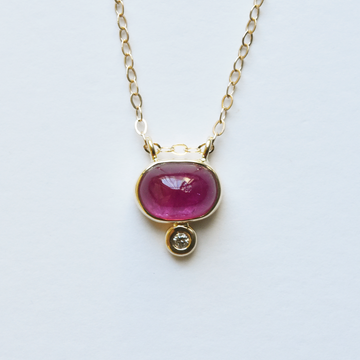 Tourmaline Pendant Necklace in Yellow Gold - Goldmakers Fine Jewelry