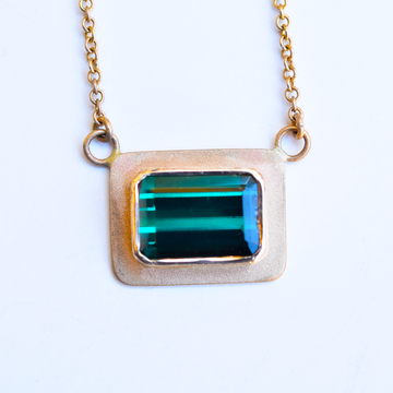 Tourmaline and Gold Necklace - Goldmakers Fine Jewelry