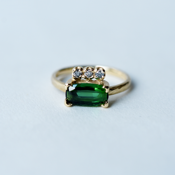 Tourmaline Ring with Diamond Accents - Goldmakers Fine Jewelry