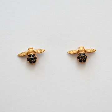 Vermeil Bee Post Earrings - Goldmakers Fine Jewelry