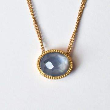 Verona Necklace in Chalcedony Blue