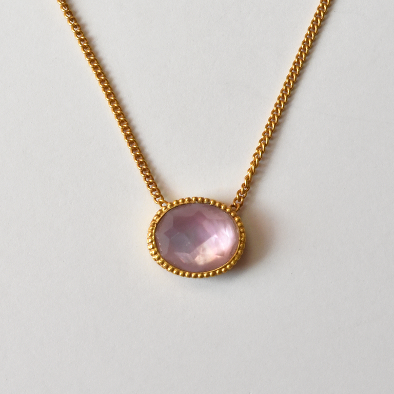 Verona Necklace in Rose - Goldmakers Fine Jewelry