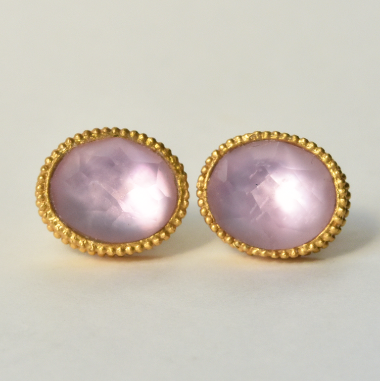Rose Verona Stud Earrings - Goldmakers Fine Jewelry