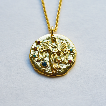 Virgo Coin Necklace - Goldmakers Fine Jewelry