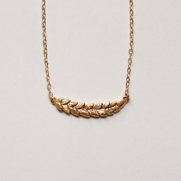 Wheat Necklace in Yellow Gold - Goldmakers Fine Jewelry