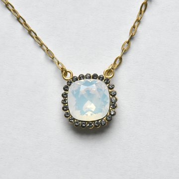 White Crystal Necklace - Goldmakers Fine Jewelry
