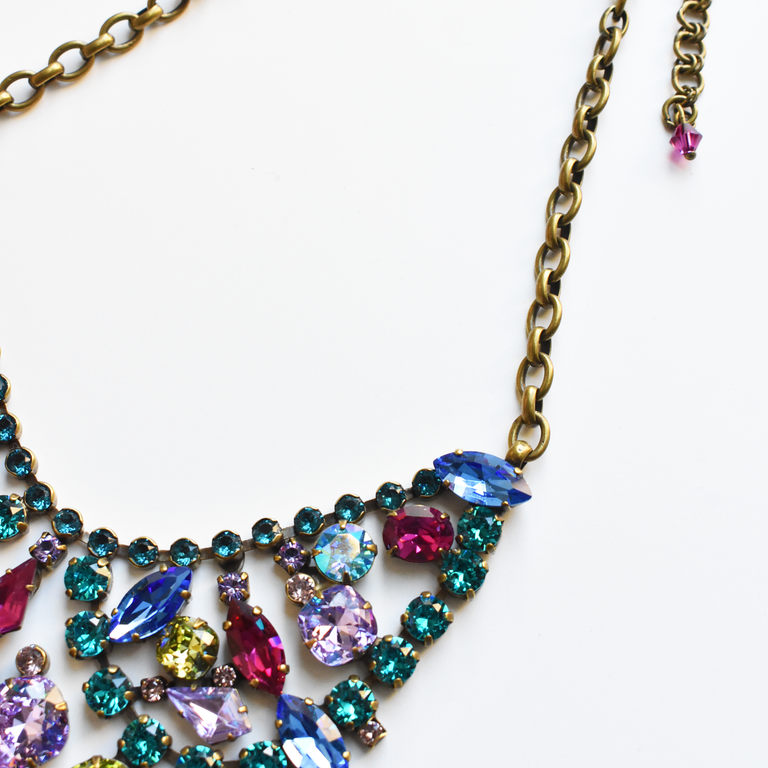 Empress of Color Collar Necklace - Goldmakers Fine Jewelry