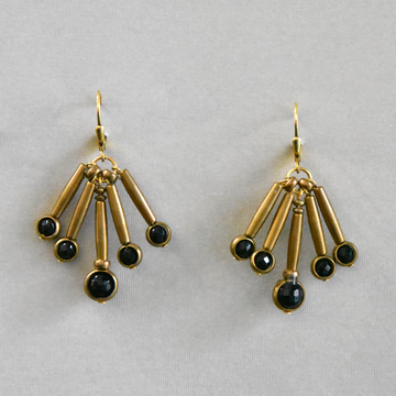 Windchime Drops in Black - Goldmakers Fine Jewelry