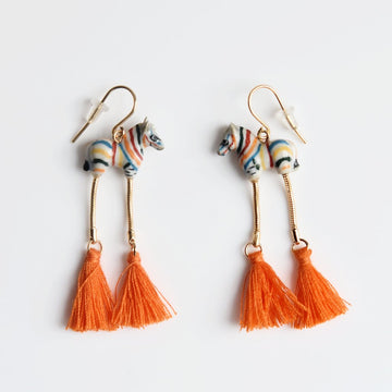 Colorful Zebra Earrings - Goldmakers Fine Jewelry