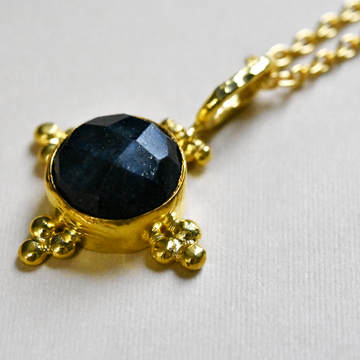 Checkerboard Lapis Necklace - Goldmakers Fine Jewelry