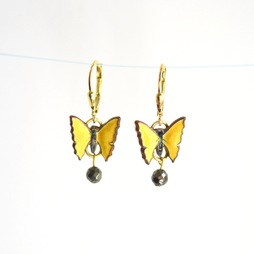 Butterfly Drop Earrings - Goldmakers Fine Jewelry