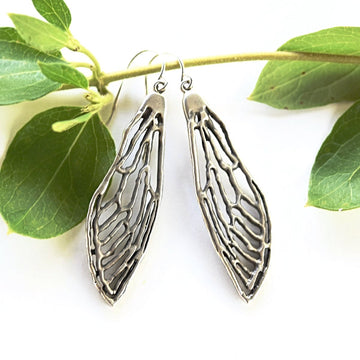 Cicada Earrings in Silver - Goldmakers Fine Jewelry