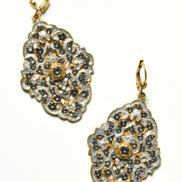 Bella Patina Drop Earrings in White - Goldmakers Fine Jewelry