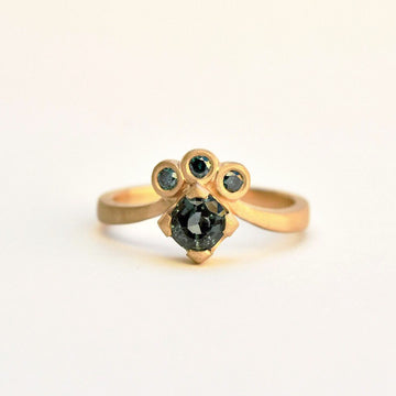 Green Spinel and Diamond Engagement Ring - Goldmakers Fine Jewelry