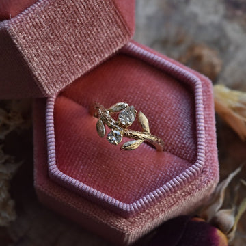 Golden Arbor Diamond Engagement Ring - Goldmakers Fine Jewelry