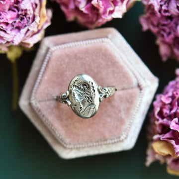 Goddess Intaglio Ring in Silver - Goldmakers Fine Jewelry