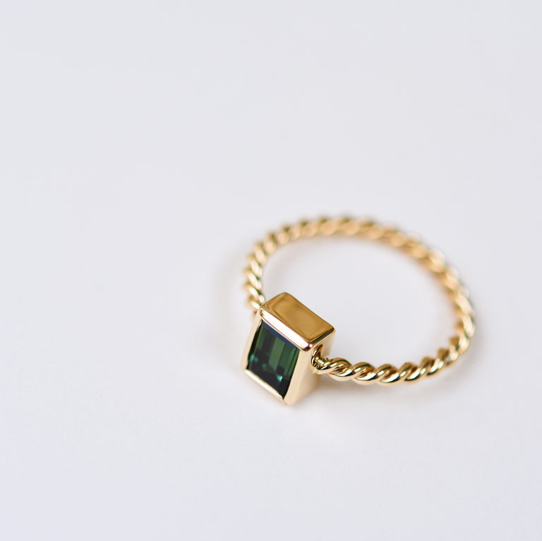 Tourmaline and Gold Petite Ring - Goldmakers Fine Jewelry