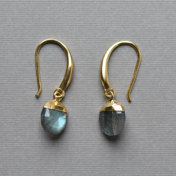 Labradorite Drop Earrings - Goldmakers Fine Jewelry