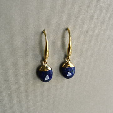 Lapis Drop Earrings - Goldmakers Fine Jewelry