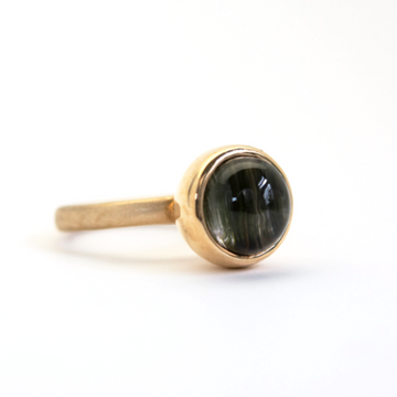Cat's Eye Tourmaline Lollypop Ring in Gold - Goldmakers Fine Jewelry