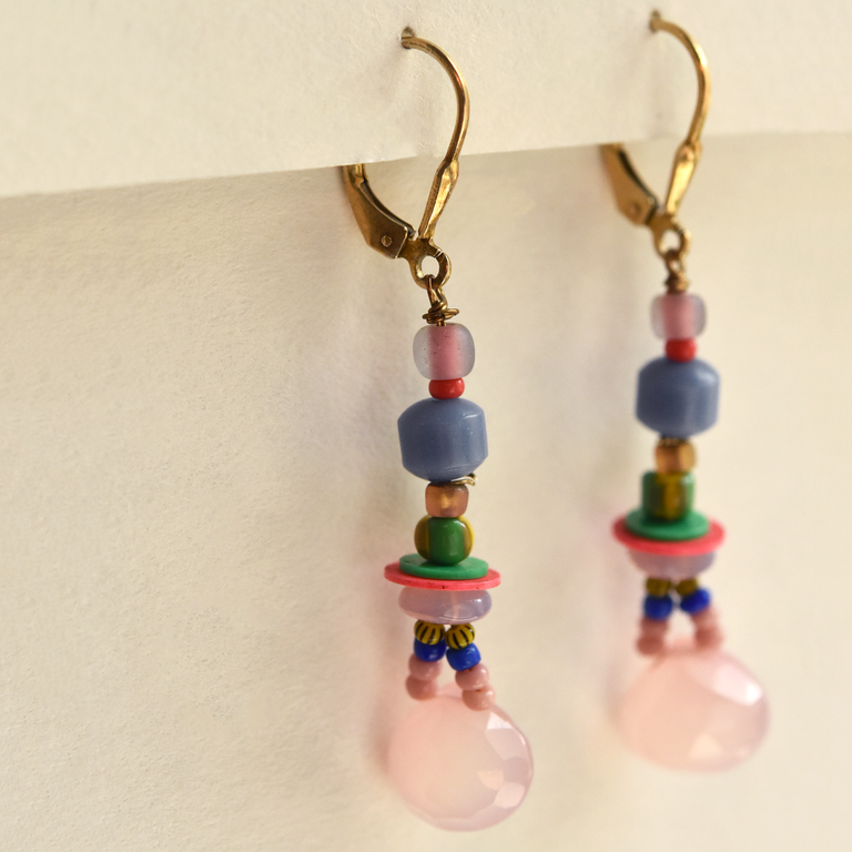 Pastel Beaded Earrings - Goldmakers Fine Jewelry
