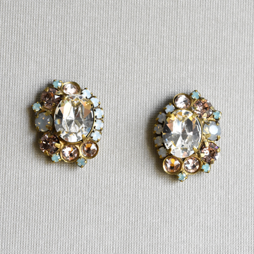 Pink and Iridescent Studs - Goldmakers Fine Jewelry
