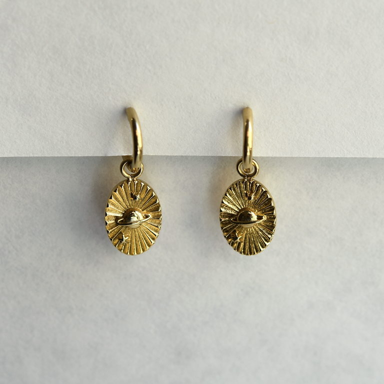 Planet Dangle Earrings - Goldmakers Fine Jewelry