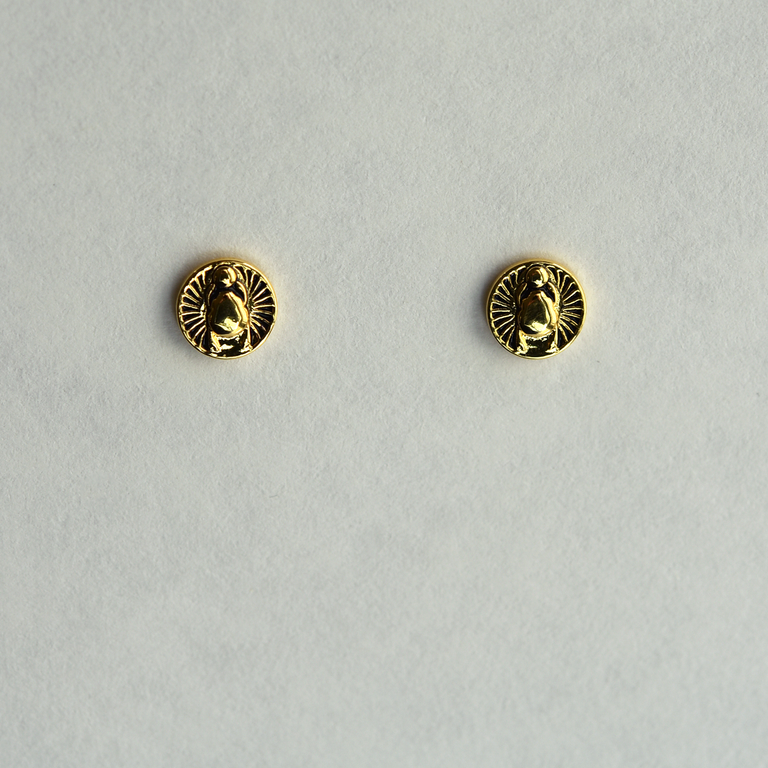 Golden Scarab Earrings - Goldmakers Fine Jewelry