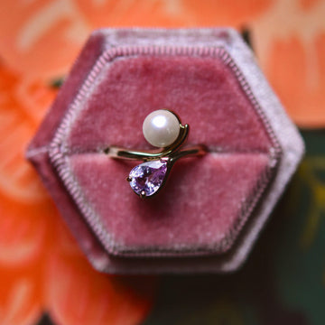 Pearl and Sapphire Ring - Goldmakers Fine Jewelry