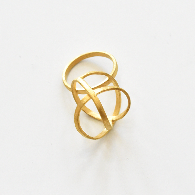 Sculpture Ring in Gold Overlay - Goldmakers Fine Jewelry