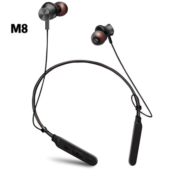 M8 Neckband Bluetooth Earphone Sports Music Sports Magnet Earbuds