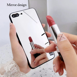 iphoneX mirror phone case iphone7/8plus make-up self-timer glass case