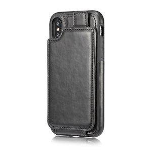 IPhone X multifunction wallet mobile phone leather jacket wallet mobile phone set10/X protection cover