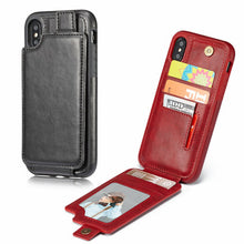 Load image into Gallery viewer, IPhone X multifunction wallet mobile phone leather jacket wallet mobile phone set10/X protection cover