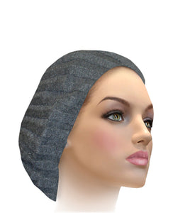AH-H0002 Raised Ribbed Snood Charcoal