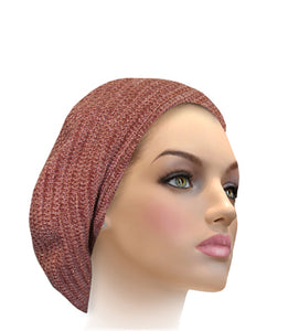 AH-H0011 Ribbed Chenille Beret Cherry