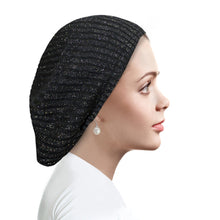 AH-H0006 Circular Ribbed Beret Black Sea