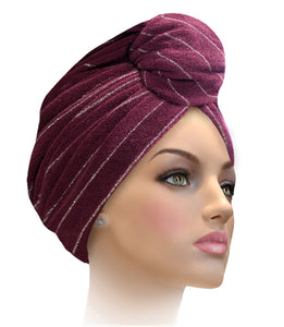 MTERHL Miami Terry Highlighted Turban Bijou Blue