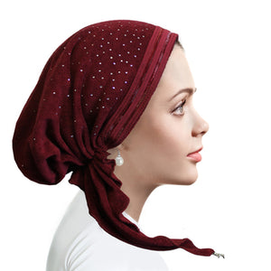 TR851 Terry trimmed pretied Burgundy