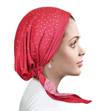 D265 Raspberry Denim Pretied with Gold Studs