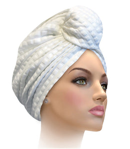 MCNVCL White Conventional turban