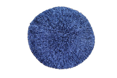 KCB2322 Chenille Dark Blue With Navy Lurex