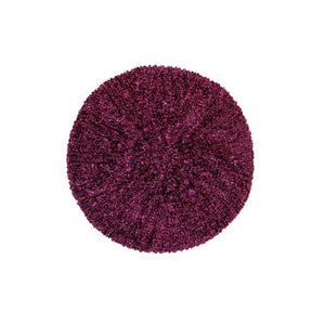 KCB2322 Chenille Black with Burgundy Lurex